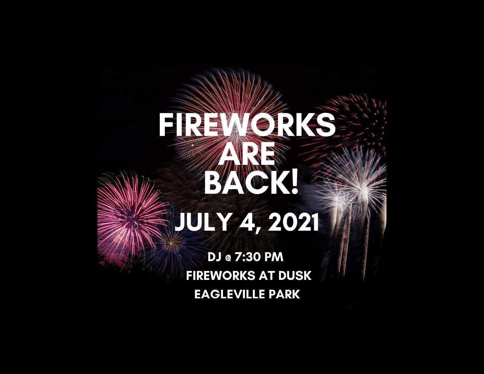 Fireworks Are Back! July 4, 2021