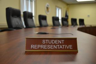 Photo of student representative nameplate