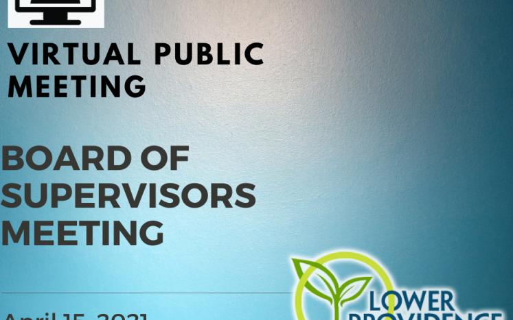 Virtual Board of Supervisors Meeting April 15, 2021