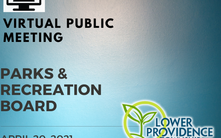 Virtual Parks and Recreation Board Meeting April 20, 2021 at 7:00 pm