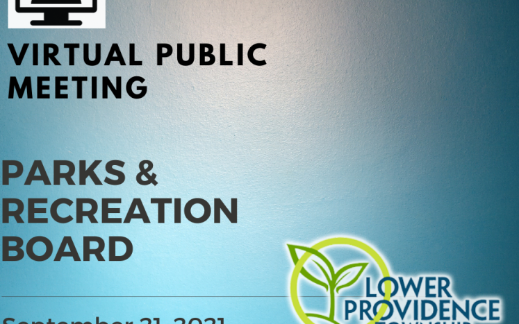 Virtual Parks and Recreation Board Meeting September 21, 2021