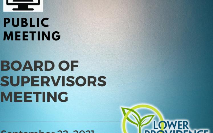 Virtual Board of Supervisors Meeting September 22, 2021