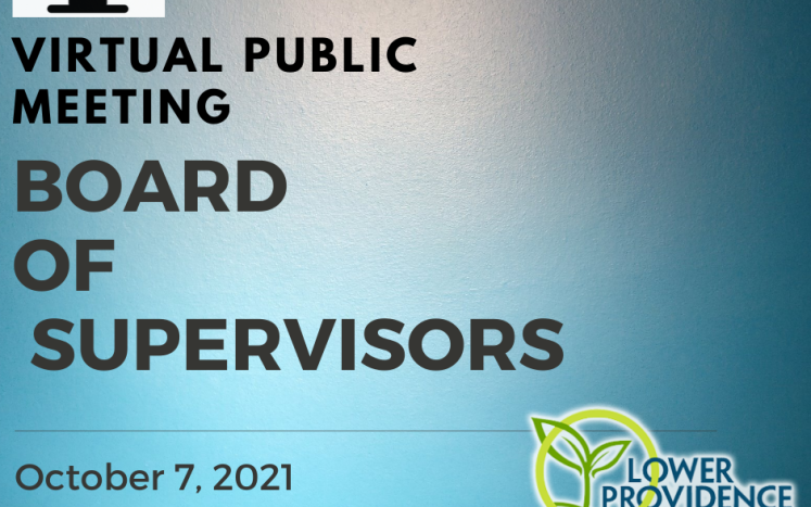 Virtual Board of Supervisors Meeting October 7, 2021