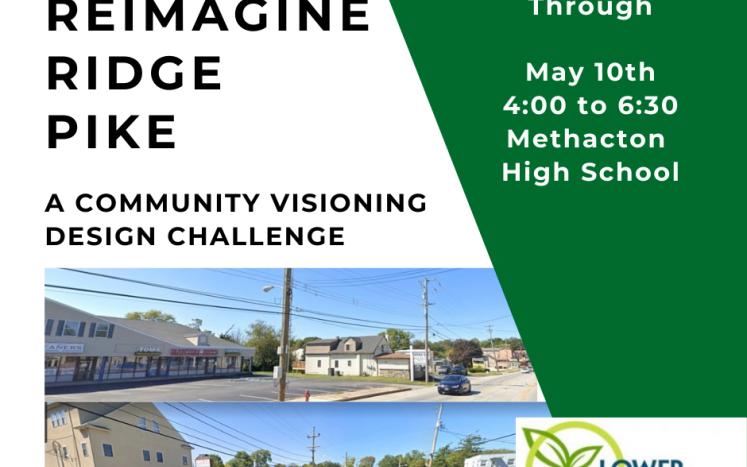 Reimagine Ridge Pike Community Walk Through May 10, 2021 4 to 6:30 pm