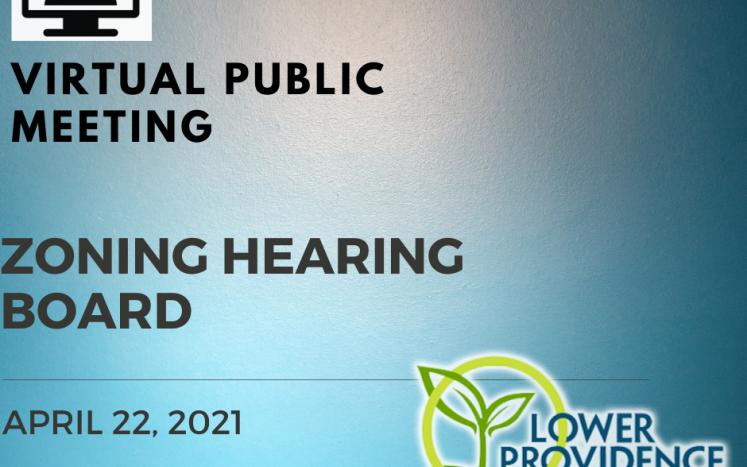 Virtual Zoning Hearing Board April 22, 2021 at 7:00 pm
