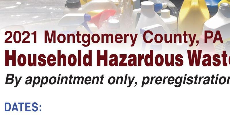 2021 Montgomery County Household Hazardous Waste Events